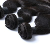 Wholesale Hand Tied Hair Extensions - Unprocessed Virgin Human Hair Hand Tied Hair Brazilian Weft Weave Body Wave 3PCS Lot Virgin Extensions Free Shipping