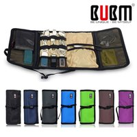 Wholesale Cable Wires Organizer - BUBM Brand Fashion Organizer Roll UP Winder Earphone Portabla Electronics Hard Drive Storage Bag Stable Travel Cable Organizer