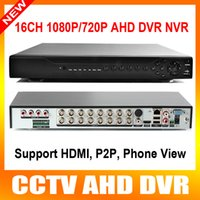 16 channel dvr hdd achat en gros de-Home DVR Recorder AHD 1080P 16CH AHDH DVR 16 canaux 2 SATA HDD Port AHD DVR 16CH Hybrid NVR