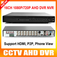 Wholesale Sata Hdd Tb - New Arrival Home DVR Recorder AHD 1080P 16CH AHDH DVR 16 Channel 2 SATA HDD Port AHD DVR 16CH Hybrid NVR DVR Recorder