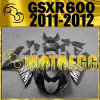 Wholesale Plastic Injection Mold Design - Five Gifts Motoegg High Quality Injection Mold Fairings For Suzuki GSXR600 K11 2011-2016 GSX-R600 11-16 GSXR750 New Design Kits Black S62M20