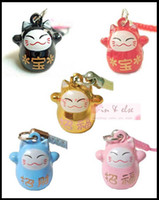 Wholesale Maneki Neko Strap - New 60 Pcs Maneki Neko Lucky Cat Bell Charm Strap for Mobile Phone, Handbag, Pet Collar