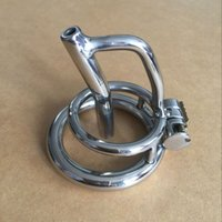 """chastity cage steel Australia - Magic lock new chastity devices with sounds urethral 35mm cage length stainless steel small chastity cb 1.4"""""""