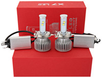 ingrosso le lampadine a led automobilistiche-2pcs / lot Auto Anteriore Fendinebbia Lampadina Led Bianco Automotive Faro H4 6000 K X7 LED Faro Lampadine All-in-one Kit di Conversione Auto Faro