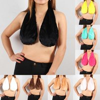 Wholesale Drip Cup - Women Sexy Dripping Towel Halter Tops TATA Towels Boob Sweat Bra