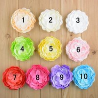 Wholesale Hair Products Girls - Hot Selling Baby Hair Product Fabric Peony Flower For Baby Girls Headband Headwear 20pcs lot Free shipping C216