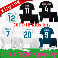453c657a1a1ca 2017 2018 kids Kits Real Madrid home Soccer Jersey 17 18 Campeones Ronaldo  Bale Futebol uniformes SERGIO RAMOS ISCO Away 3RD Football Shirt