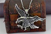 collares de transporte al por mayor-De alta calidad Restaurar formas antiguas Barato de Alta calidad Colgante de Collar de Águila Joyería de Acero de titanio Collares Clásicos Moda Ornamen