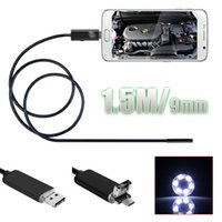 Nachtsicht Wasserdichte Schlange Tube Kamera Endoskop Borescope Micro USB Inspektion Video Camcorder für Android PC 2In1 1.5M SUR_20R