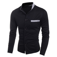 Wholesale Trade Store - Wholesale-Boutique Store Hot Sale new foreign trade Chao colour matching collar men's jacket small Korean version of self in a suit