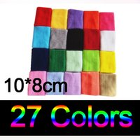 Wholesale Terry Cotton Wristbands - 27 Colors Wrist Sweatband Sport Support Women Men Protection Sweat Band Wristband Bracers Terry Cloth Cotton Yoga Running Tennis Gym