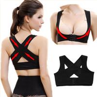 Wholesale New Back Support Belt - New Women Adjustable Back Support Belt Posture Corrector Brace and Support Posture Shoulder Corrector for Health Care