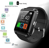 Wholesale Thermometer Bluetooth - Bluetooth smart watches U8 with Pedometer Alarm,Stopwatch,Thermometer for iPhone 4 4S 5 5S Samsung Note 3 2 HTC Smartphone Free Shipping