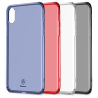Wholesale Baseus Iphone Case - Soft Silicone Clear Cases For IPhone X Baseus Simple Series Anti-fall Clear TPU Case for iPhone X Cases
