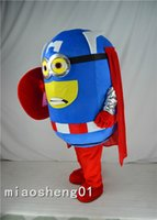 Wholesale Despicable Costumes - 2016 New Style Cartoon Mascot costume Free Shipping! Despicable Me Minion Mascot Costume, Captain America Despicable Me Mascot Costume