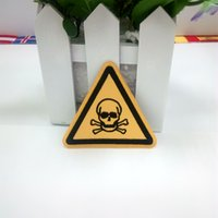 Wholesale Zombie Patches - BIOHAZARD SYMBOL embroidered iron-on PATCH ZOMBIE new TOXIC WARNING DANGER