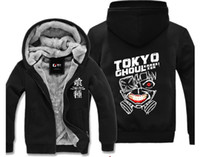 Wholesale tokyo ghoul sweatshirt - New Winter Casual Tokyo ghoul Hoodie Anime kirishima touka Kaneki ken Super Warm Thicken Fleece Zip Up Sweatshirt Coat Unisex