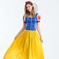 Wholesale Theme Clothing - Women Halloween Costumes Cosplay Disneys Character Costume Party Snow White Clothes Hallowmas Club Fashion Theme Costume Dress