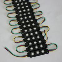 online shopping Led Pcb Modules - Black PCB DC12V waterproof RGB 5050 SMD 3-leds injection LED Module light advertising light windows light