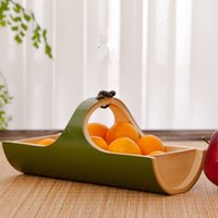 Wholesale Bowling Party Supplies - Wholesale - Natural bamboo decorative trays for fruit bowl original Festive & Party Supplies Fashion eco-friendly kitchen accessories