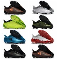 Wholesale Shoes Cup Soccer - 2018 mens soccer shoes X 17 Purechaos FG original high ankle soccer cleats Ace 17 Purecontrol football boots Purespeed Confed Cup cheap Hot