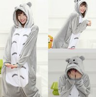 Wholesale Cheap Totoro - Halloween Lovely Totoro Cheap Silver Easily Kigurumi Pajamas Anime Pyjamas Cosplay Costume Adult Unisex Onesie Dress Sleepwear