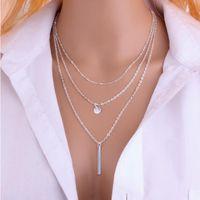 ingrosso collana di argento del lupo teen-2016 nuovo arrivo fascino gioielli donne collane steampunk pendenti perle di rame collana multistrato EXL98