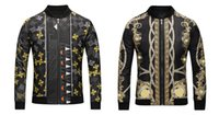 Wholesale Tiger Pattern Clothing - Italy Luxury Brand medusa print jackets Long Sleeve silk jacket Men Casual windbreaker jackets Tiger printing men clothing