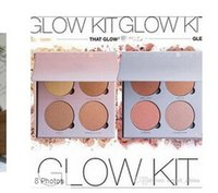 Wholesale Sun Glow Wholesale - 2016 New Branded Ana Glow Kit Makeup Face Blush Powder Blusher Palette Cosmetic Blushes 5Shades: Gleam That Glow Sun Dipped HL Free shipping