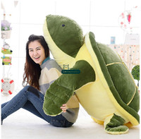 Wholesale Tortoise Stuffed Animal - Dorimytrader New Huge 59''   150cm Jumbo Stuffed Tortoise Doll Soft Plush Giant Animal Turtle Toy Nice Baby Gift Free Shipping DY60824