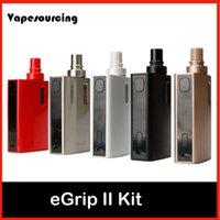 Wholesale Ecigarette Led - Authentic Joyetech eGrip II Kit Newly Added with Game Mode with Multiple LED Colors ecigarette Joyetech eGrip 2 kit VS cuboid mini kit