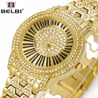 Wholesale Wholesale Gold Watches China - BELBI 2017 Luxury Dress Watches for Women Diamond Romantic Design Style Ladies Wristwatches AAA Waterproof Watch China Brand