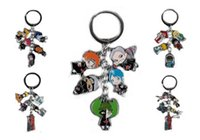naruto bezaubert anhänger großhandel-Naruto Keychain Metallfiguren Anhänger Schlüsselanhänger Anime Cartoon Charms mit Ring 5 Anhänger für Weihnachtsgeschenke