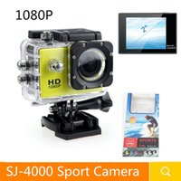 Wholesale Blue Screen Photo - Mini Action Sport Camera SJ4000 1080P Full HD Digital Camera 2 Inch Screen Under Waterproof 30M DV Recording Photo Video Camera With Box