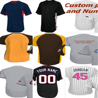 Wholesale Kids Fashion Male - 2017 Female Kids Male Chicago Custom Mother Father Memorial day Fashion All-star Cool Flex Baseball Jerseys Grey White Black Beige Yellow