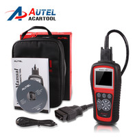 Wholesale Obdii Abs Engine - Original Autel AutoLink AL619 OBDII CAN ABS And SRS Scan Tool Update Online Autel AL619 Autel ABS SRS Scanner