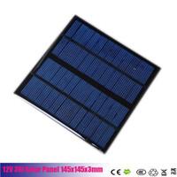 mini painéis solares para telefones venda por atacado-Uma célula solar de silício policristalino 12V 3W 145x145x3mm Alta eficiência Mini módulo de painel solar Carregador solar para telefone