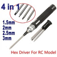Wholesale Rc Hex Screw Driver Set - 4 In 1 Hex Driver Screw Tools Set For RC Model