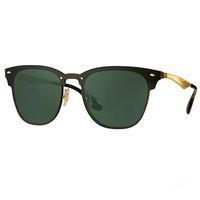 Wholesale Leather Framed Glasses - Newest Designer 3576N Club Fashion Sunglasses Men Sun Glasses Women Retro Green G15 Mercury lens New Hinge with Original Leather Box