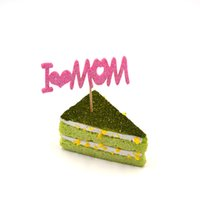 Wholesale Love Cake Designs - New Design I love Mom Cake Toppers For Mother's Day Hot Sale Custom EVA Shine Paper Cupake Toppers