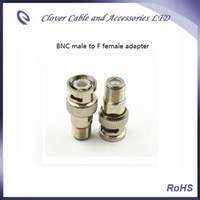 Good Quality and Free Shipping 50PCS Lot BNC male to F female CATV Connector BNC adapter