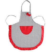Wholesale Restaurant Beautiful - 2017 Beautiful Apron Cute Black Dot BowKnot Dot Women Kitchen Restaurant Bib Cooking Aprons With Pocket 75X65 CM
