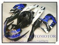 kit de yamaha negro al por mayor-Kit de carenado nuevo de inyección 100% en forma para YAMAHA YZF600R 96-07 YZF 600R 1996-2007 1997 1998 1999 2000 # SH723 BLACK BLUE