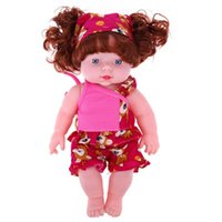 Wholesale Wholesale Reborn Baby Dolls - Wholesale- 30cm Reborn Baby Girl Doll Soft Vinyl Silicone Lifelike Alive Babies Toys For Kids Girls Birthday Chirstmas Gift
