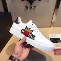 Wholesale Crown Appliques - Embroidered Crown Men Shoes Man Casual Shoes Genuine Leather brand Fashion Male shoe High quality cow leather man selling Model 158496397