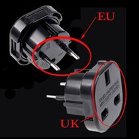 Wholesale Uk Euro - Travel UK to EU Euro Plug AC Power Charger Adapter Converter Socket Black