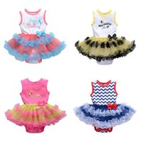Wholesale christmas rompers for babies - Baby girl tutu rompers dress set christmas romper dress baby lovely clothing for 0~2 Years baby