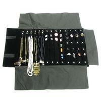 ingrosso rotolo di stoccaggio della collana-Caso portarotolo di gioielli di moda collanina anello di immagazzinaggio di viaggio organizzatore di viaggi portatile borsa rotolo di orecchino di viaggio