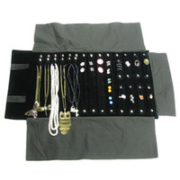 Wholesale Portable Jewelry Storage Case - Fashion Jewelry Roll Holder Cases Necklace Storage Bag Ring Travel Organizer Portable Travel Combination Earring Roll Bag