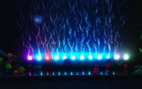 45CM Aquarium Fish Tank 18pcs LED Light Air Stone Bubble Submersible Water Underwater Air Curtain LED Lamp Bar Strip Iluminação